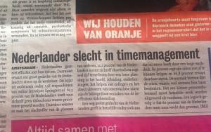 Bijna driekwart Nederlanders gaat inefficiënt met tijd om